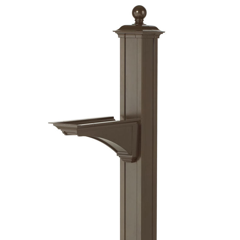 16233 Balmoral Post & Bracket with Ball Finial - Bronze