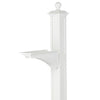 16235 Balmoral Post & Bracket with Ball Finial - White