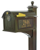 16237 Balmoral Mailbox Side Plaques - Monogram and Post Package - Bronze