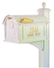 16239 Balmoral Mailbox Side Plaques - Monogram and Post Package - White