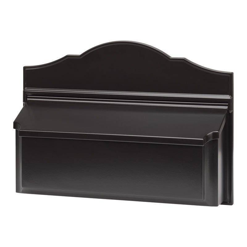 Whitehall Wall Colonial Mailbox-Black-No Numbers