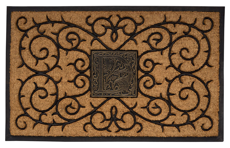 1739BG Personalized Monogram Coir Door Mat