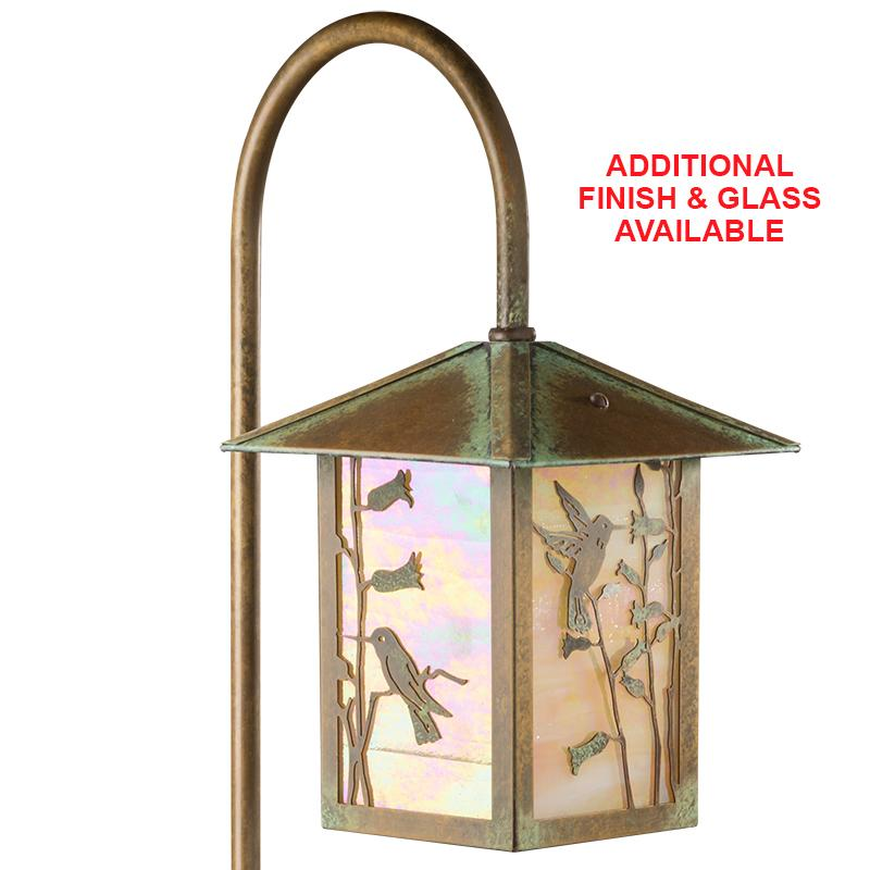 1742-GL1-HB LED Hummingbird Lantern on Shepherds Hook
