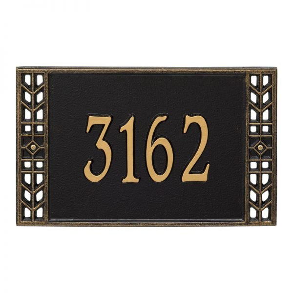 1891 Boston Standard Wall Address Plaque - 1 Line