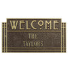 1949 Arts and Crafts Style Standard Wall Address Plaque - 2 Line
