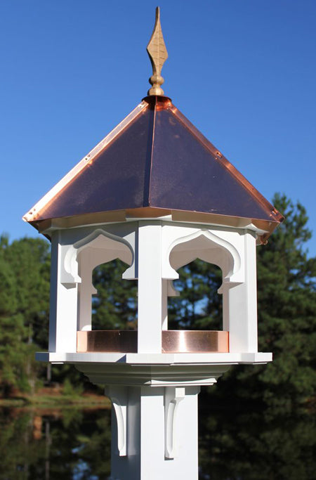 219A Carousel Cafe - White Cellular PVC - Bright Copper Roof