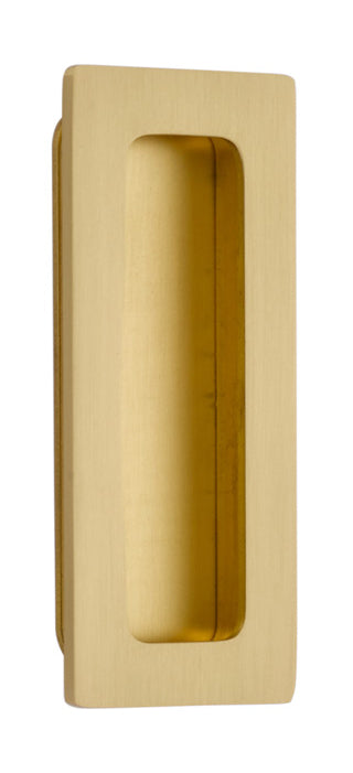 220304 Modern Rectangular Brass 4 Inch Flush Pull