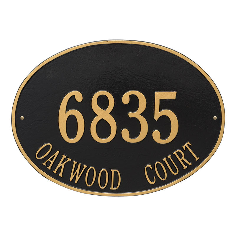 2927 Hawthorne Oval Estate Wall Address Plaque - 2 Line