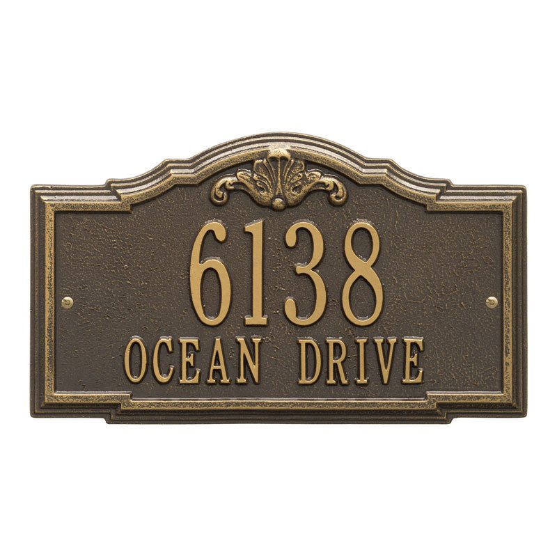 2955 Gatewood Plaque Standard Wall Address Plaque - 2 Line