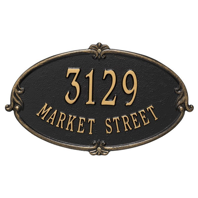 3115 Monte Carlo Standard Wall Address Plaque - 2 Line