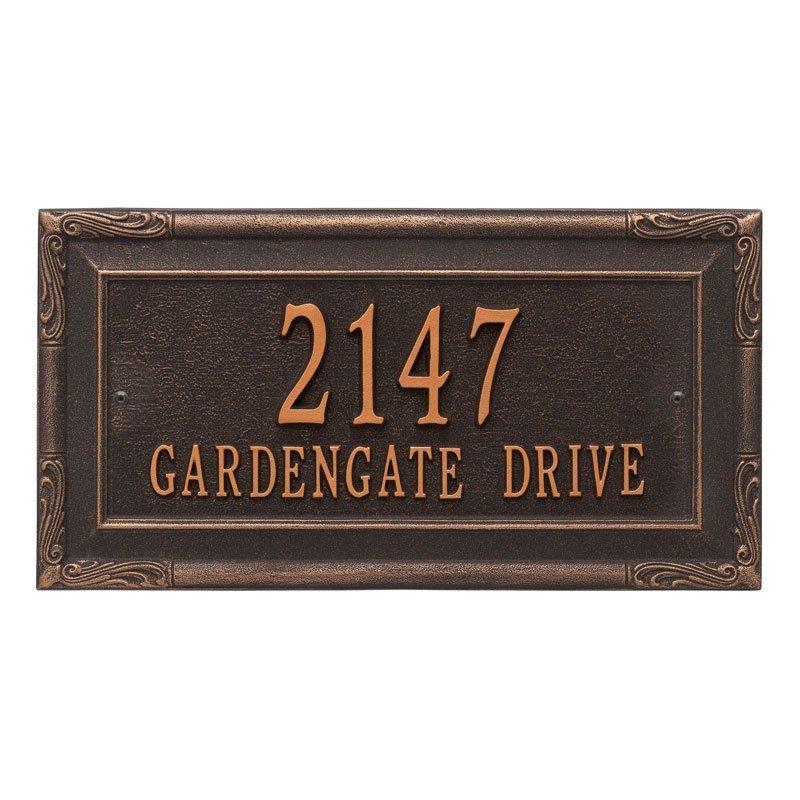 3287 Gardengate Grande Wall Address Plaque - 2 Line
