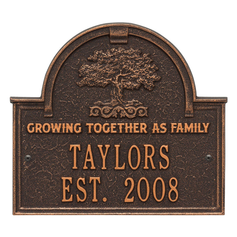 3304OB Family Tree Anniversary Wedding Personalized Plaque