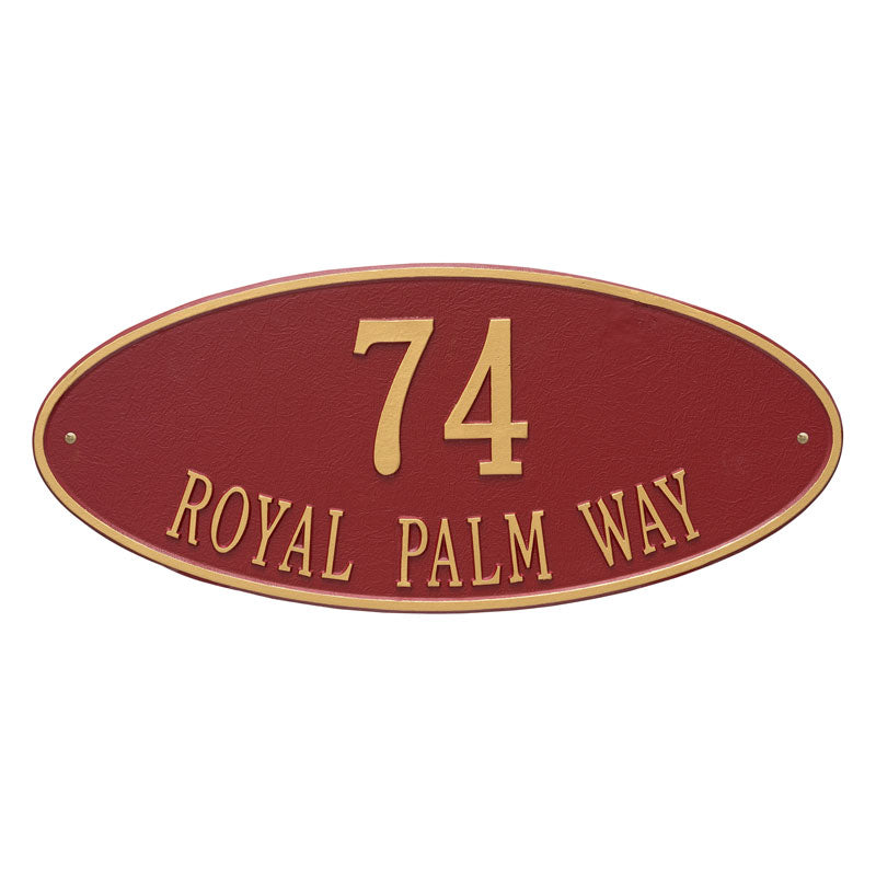 4010 Madison Oval Estate Wall Address Plaque - 2 Line
