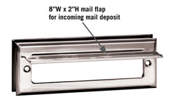 4035 Standard Letter Size Mail Slot - Chrome