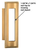 4085 Standard Vertical Mail Slot - Brass