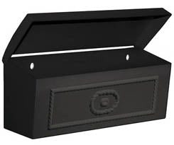 4560BLK Wall Mount Townhouse Mailbox - Black