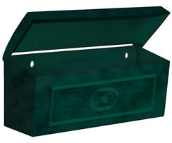 4560GRN Wall Mount Townhouse Mailbox - Green