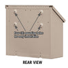 4615BGE Traditional Mailbox - Decorative - Horizontal Style - Beige