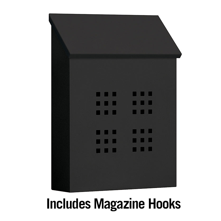 4625BLK Traditional Mailbox - Decorative - Vertical Style - Black