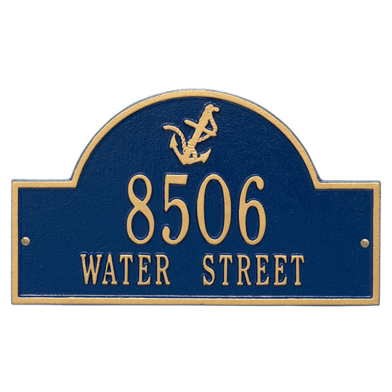 5124 Anchor Arch Standard Wall Address Plaque - 2 Line