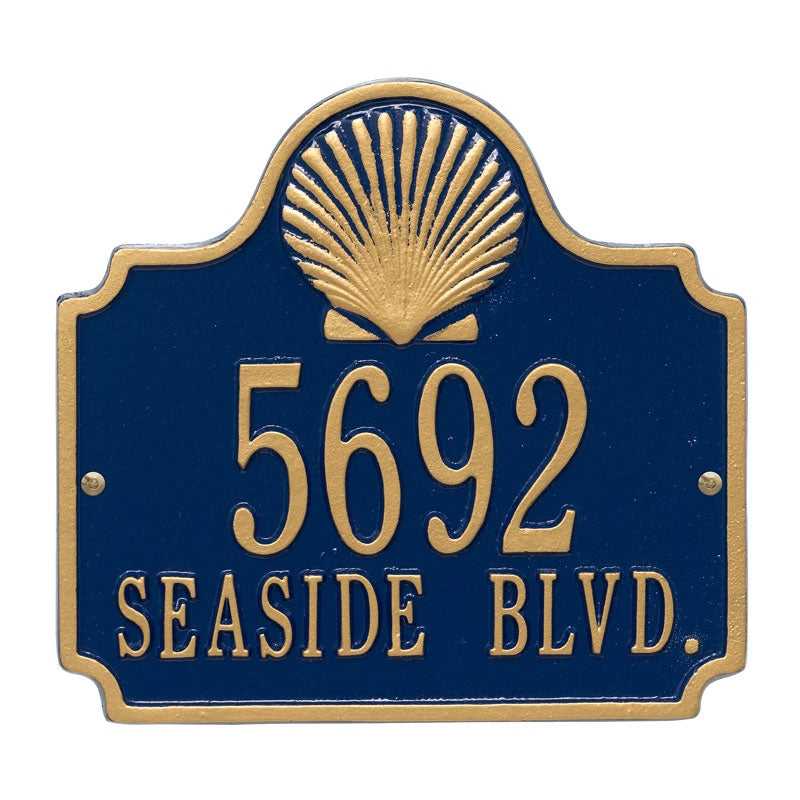 5130 Conch Standard Wall Address Plaque - 2 Line