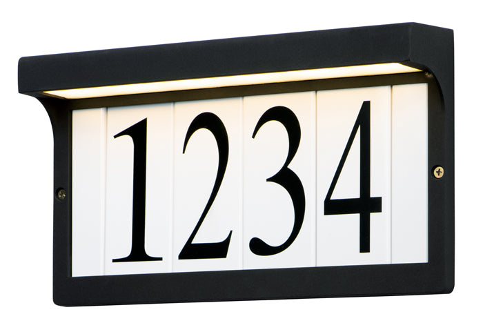 LED Address Light Frame - Black Finish