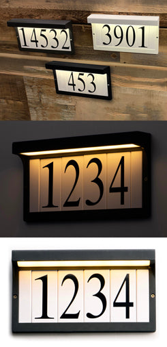 53610BK LED Address Light Frame - Black Finish