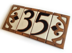 6000 Cottage Style House Number Tile 0