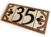 6001 Cottage Style House Number Tile 1