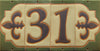 8003 Tudor Style House Number Tile 3 - Tudor Brown