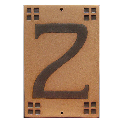 9002 Craftsman Style House Number Tile 2