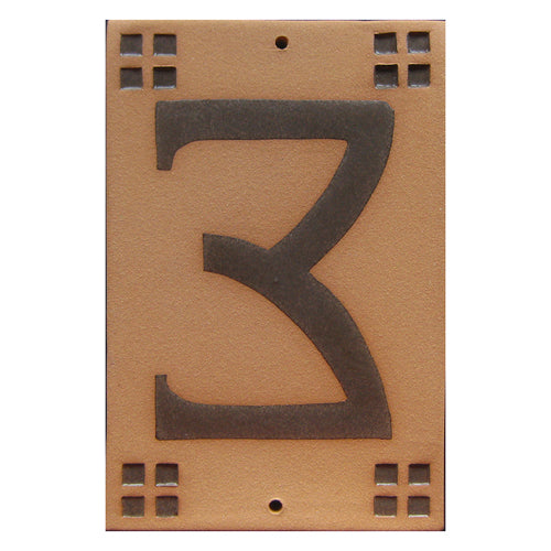 9003 Craftsman Style House Number Tile 3
