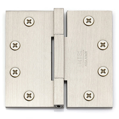 96515 Square Corner Square Barrel Heavy Duty Hinges - 4.5x4.5 Solid Brass