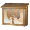 AF-3123 Large Mailbox with Oak Tree Filigree