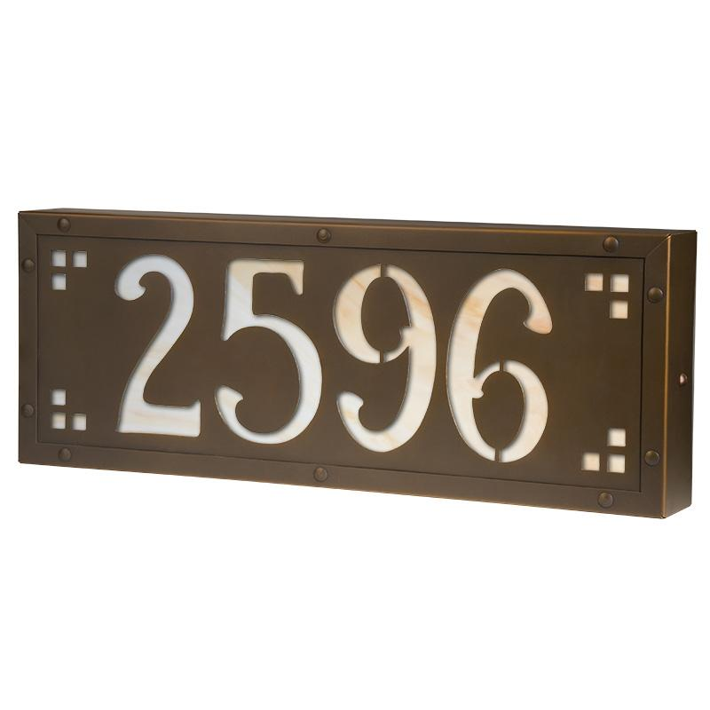 AF-L21 Medium Pasadena Ave Lighted Address Plaque