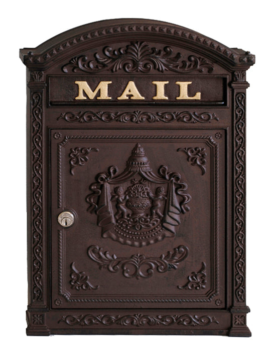 E6RB Victorian Style Mailbox - Rust Brown - Locking