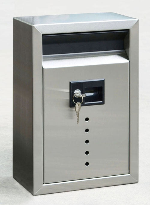 E9 Contemporary Style Mailbox - Satin Stainless Steel