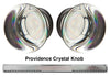 Emtek 8000 Door Knob with Threaded Spindle - Modern Providence Crystal Knob