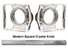 Emtek 8000 Door Knob with Threaded Spindle - Modern Square Crystal Knob