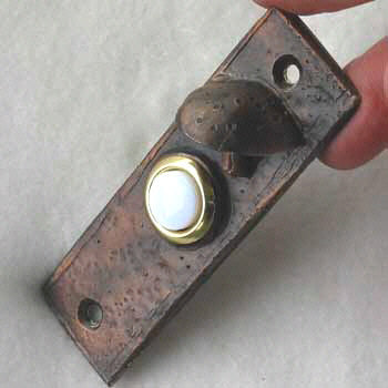 Slim With Toadstool Bronze Doorbell