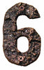 Rustic Cast Bronze Number 6