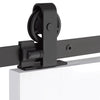 Emtek Barn Door Hardware Kit - Classic Top Mount Hanger - Flat Black