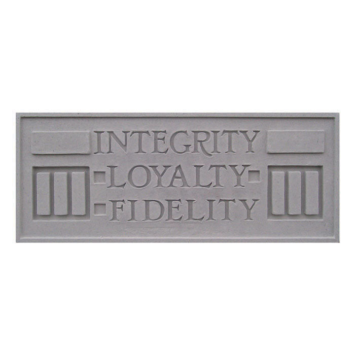 Integrity Loyalty Fidelity Plaque