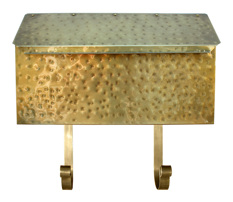 Provincial Horizontal Mailbox MB500-AB Antique Hammered Brass