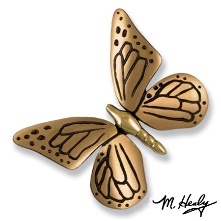 Butterfly Door Knocker-Brass/Satin Bronze