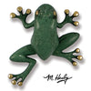 Frog Door Knocker-Brass/Blue-Green Patina