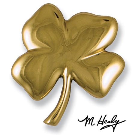 Four Leaf Clover Door Knocker-Brass