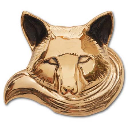 Fox Door Knocker-Brass