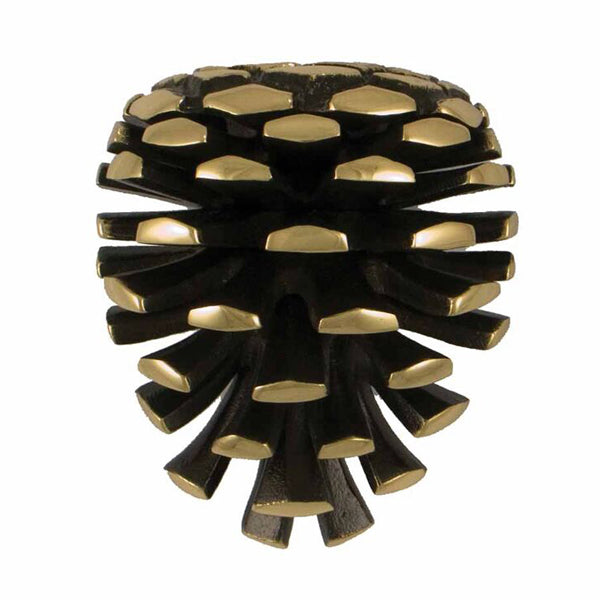 Pinecone Standard Door Knocker-Brass