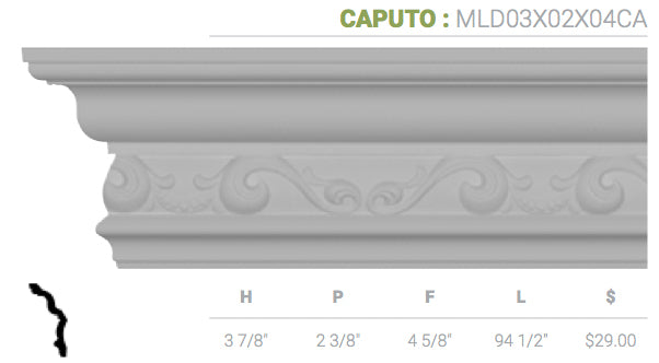 MLD03X02X04CA Caputo Crown Moulding